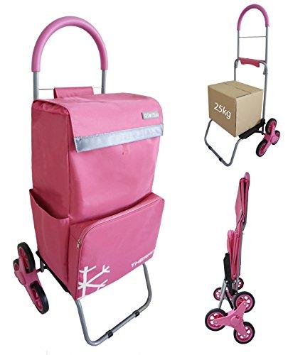 Einkaufstrolley, Monte Treppe Bo Time–Double Verwendung–Fronttasche Kühltasche–große Kapazität 57L