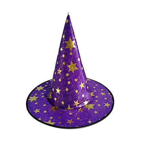 Fenghong Halloween Hexen Hut, Hexe Kürbis Bronze Mantel Hut Zauberer Kostüm lila Stil # 1, Hut Halloween Zauberer Hut Hallween Cloal Cute Stoff Halloween Dekor Bar
