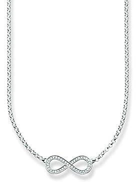 Thomas Sabo Damen-Kette mit Anhänger 925 Silber Zirkonia weiß Brillantschliff 42 cm - SCKE150147