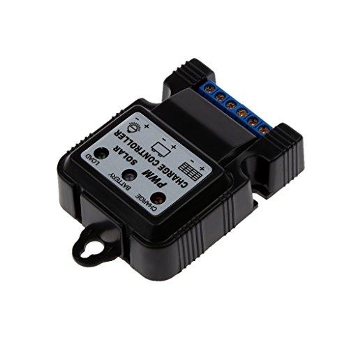 6v 12v 10a Selbstschalter Solarpaneel Batterieregler Controller-Ladegerät Solarregler Laderegler Schwarz