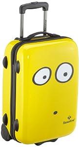 Saxoline My Eyes Wheeled Suitcase - 39 X 20 X 55 Cm Yellow from Saxoline