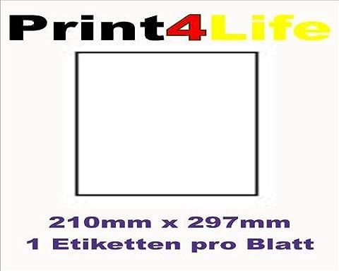 100 feuilles A4 papier adhésif blanc; Utilisé pour toutes les imprimantes jet d'encre!