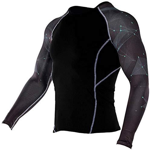 Beonzale Summer Fashion Herren Yoga Fitness Soft T-Shirt Schnelltrocknende Sport Druck Top Bluse Slim-Fit Training Geeignet Für Workout (North Face Mock)