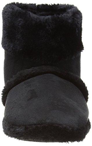 Coolers Chaussons montants en fourrure homme Pointures 41 à 47 Noir - noir