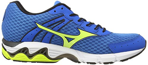 Mizuno Wave Inspire 11, Chaussures de Running Entrainement homme Bleu (Directoire Blue/Lime Punch)