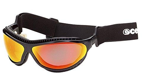 Ocean Sunglasses Tierra De Fuego, Occhiali da Sole Polarizzati, Montatura: Nero Opaco, Lenti: Gialle Specchiate , 12201.0