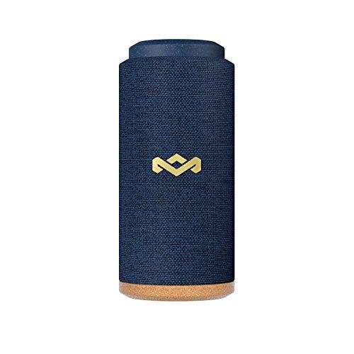 House of Marley No Bounds Sport Bluetooth Lautsprecher - wasserdicht, staubdicht & sturzsicher IP67, schwimmfähig, 12 Std Akku, Karabiner, Schnellladung, 360° Sound, Dual Pairing, Mikrofon - Blue