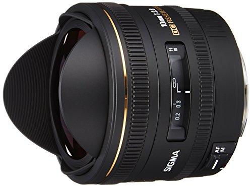 Sigma 10mm f/2.8 EX DC CAF - Objetivo para Canon (distancia focal fija 10mm, apertura f/2.8, diámetro: 77mm) color negro