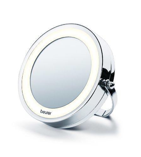 Beurer-BS-59-Espejo-cosmtico-con-luz-LED-con-brazo-para-pared-2-espejos-en-1-color-plata
