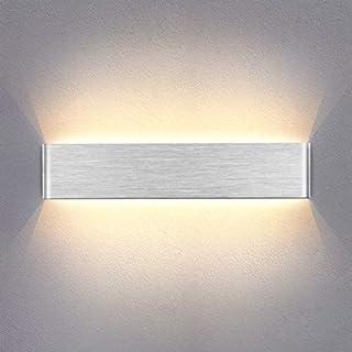 Wandlampe Innen LED Wandleuchte 14W Up Down Wandbeleuchtung AC 230V Warmweiß Silber gebürstet für Schlafzimmer Wohnzimmer Bad Flur Treppen 40CM