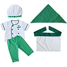 Generic Bambino Neonato Fotografia Prop Piccolo Chef Cuoco Vestito Cosplay  Costume Abiti - Verde c61ae3b02b58