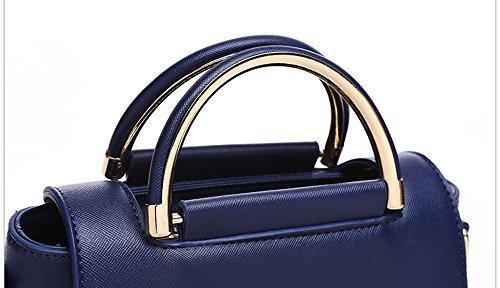 Pacchetto personalità di moda estate, versione coreana dello zaino spostato spalle, borse, borsa semplice selvatica ( Colore : White+dark blue ) White+black