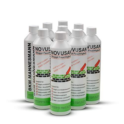 Novusan, Horizontalsperre (6x500ml) zur Injektion gegen aufsteigende Feuchtigkeit in nassen Wänden und Mauern. Markenqualität - MFPA geprüft & WTA zertifiziert!