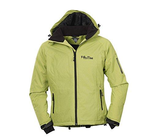 Fifty Five Damen Ski-Snowboard-Winter-Jacke - Rankin green/black 46 - Funktions-Jacken mit FIVE-TEX Membrane / winddicht wasserdicht atmungsaktiv