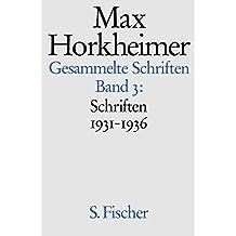 Schriften 1931-1936