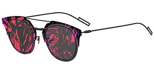 Dior Sonnenbrillen COMPOSIT 1.0 MATTE BLACK/GREY RED FUCHSIA FANTASY Unisex