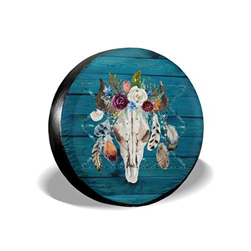 Cocoal-ltd Rustic Glam Boho Chic in Petrol Universal Reserverad Reifen Abdeckung passend für LKW, Wohnmobil, Jeep, Anhänger, Wohnmobil, SUV Anhänger Zubehör 38,1 cm (Durchmesser 68,6-73,7 cm)