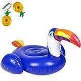 wanxing Aufblasbarer Tukan Vogel Schwimmring Sicherheits-Hilfe Weich Und Langlebig Für Erwachsene Und Kinder Blau (200cm*105cm)