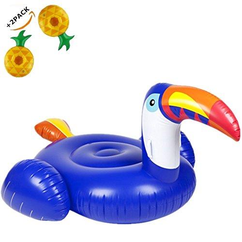 Tucano Gigante Gonfiabile Spiaggia Piscina Galleggiante Enormi giocattoli di nuoto Giocattolo Estate Gonfiabile per Bambini e Adulti per Festa in Piscina Lettini e giochi(200cm*105cm)