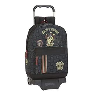 41Vuo3f9S2L. SS324  - Safta - Mochila Grande de Harry Potter Oficial Gryffindor con Carro Incluido y asa extraíble