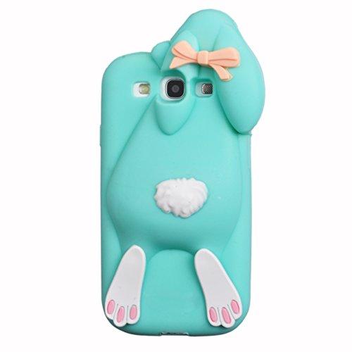 Voguecase® Per Apple iPhone 6/6s 4,7, Custodia Silicone Morbido Flessibile TPU Custodia Case Cover Protettivo Skin Caso,Completa il design del vostro Apple iPhone 6/6s 4,7 (coniglio-grigio) Con Stilo  coniglio-blu