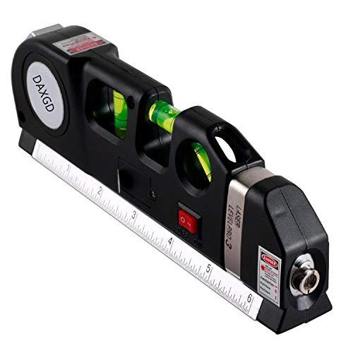 Egomall Multifonction Niveau laser vertical Horizon mesure 8m gouttière Règle standard et métrique F1