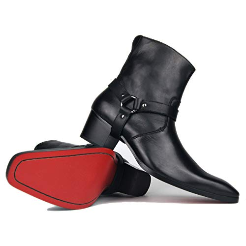 Stiefel für Männer High Heels Herren Kleid Schuhe Reißverschluss Stiefel OZ-JY002 MEHRWEG
