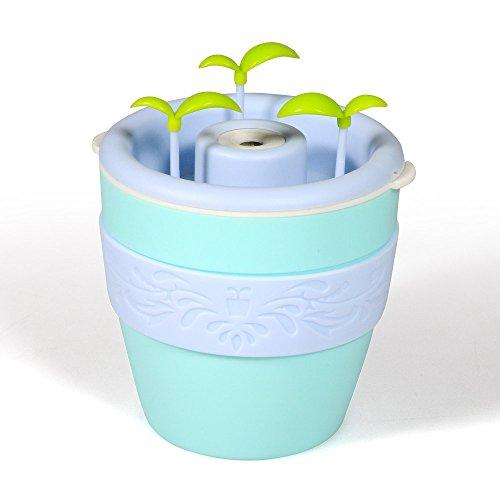 Lychee 200ml Humidificador fresco de la niebla DIY que planta flor de la forma del pote Humidificador portable del USB Purificador del aire Difusor del aroma para el cuarto del bebé Sitio de la oficina Casa Yoga Balneario (Verde)