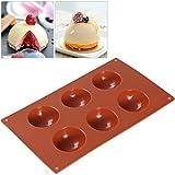 BESTOMZ Stampo Teglia per Muffin Cupcake Cioccolato Antiaderente Silicone Sfera Stampo per Ghiaccio Cioccolato Bomba 6 Cavità