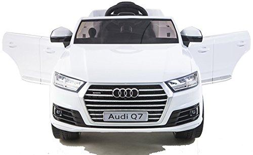 simron Audi Q7 Quattro SUV Elektro Kinderauto Kinderfahrzeug Ride-On 12V Kinder Elektroauto weiss