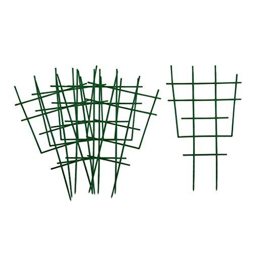 F Fityle DIY Garten-Pflanzenstütze, 6 Stück Kunststoff-Pflanzen-Spalier, Topfpflanzen-Rankhilfe für Mini-Kletterpflanzen, Rankgitter