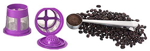 Wiederverwendbare K-Tassen für Keurig 2.0 & 1.0 Brauer & Kaffee-Schaufel - Universal Fit - Umweltfreundlicher Edelstahl-Netzfilter - Keurig Filter Karaffe