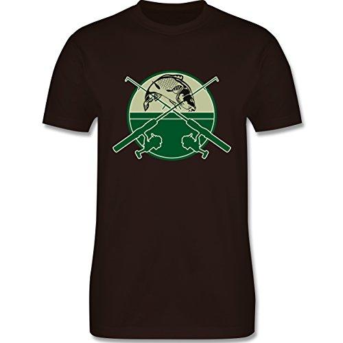 Angeln - Karpfen Fischer - Herren Premium T-Shirt Braun