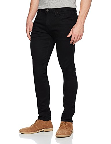 JACK & JONES Herren Slim Jeans Schwarz (Black Denim)