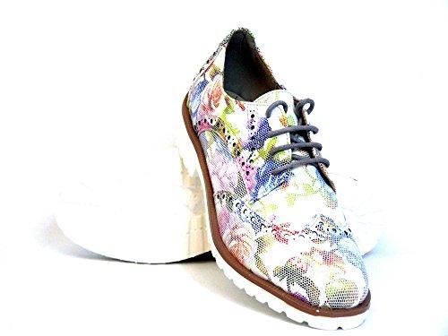 Sun & Shadow Donna Scarpe stringate bianco, (weiß-kombi) 236059 FLOWER weiß-kombi