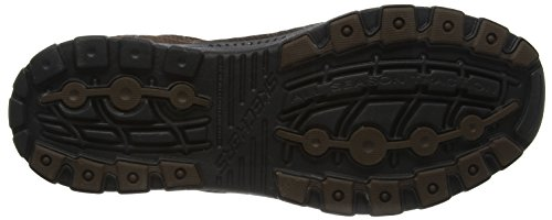 Skechers Braver Nostic, Chaussures à lacets homme Marron - Brown (Brown Cdb)
