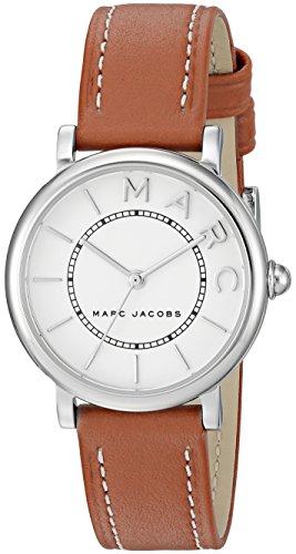 Marc Jacobs orologio 'roxy' quarzo in acciaio INOX e pelle casual da donna, colore marrone (Model: MJ1572)