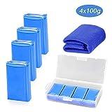 Calmare 4 Pack Clay Bar, Auto Clay Bar 100g Dettagli Auto Magic Wash Argilla Bar Sono Dotati di Un Asciugamano di Pulizia Auto
