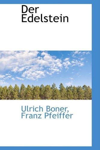Der Edelstein by Ulrich Boner (2009-05-16)
