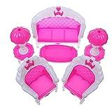 [BenerayY] STOREINBOX 6-teiliges Puppenhausmöbel-Set für Wohnzimmer, Salon, Sofa für Barbie-Zubehör