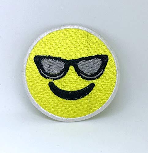 Aufnäher/Aufbügler / Aufbügler Smiley Emoji mit Sonnenbrille