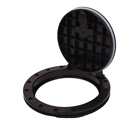 Características:  Color: Negro  Material: ABS  Diámetro: 245 mm aprox  gruesas: Aprox 30mm