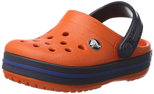 crocs Crocband Clog Kids, Unisex-Kinder Clogs, Orange (Tangerine/Navy), 29-30 EU (C12 UK) (Kids Orange Schuhe)