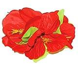 Hawaii Blumen Haarspange - Rot - Dekorative Blüten zum Hula oder Südsee Party Kostüm