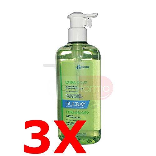ANGEBOT DUCRAY EXTRA Doux-3x Shampoo DERMOPROTETTIVO von 400ml-Extra Sanft -
