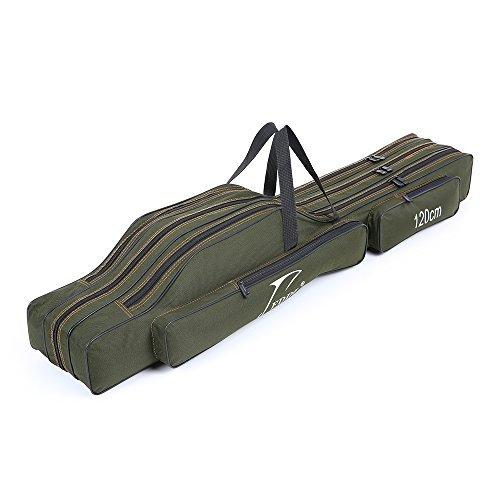 Lixada Sac Portable de Transport pour Canne Sac (Trois Couches-120cm)