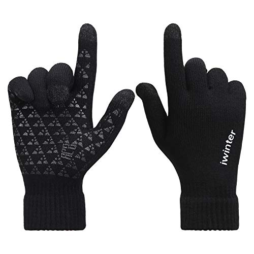 Bequemer Laden Guantes Punto Mujer Antideslizantes
