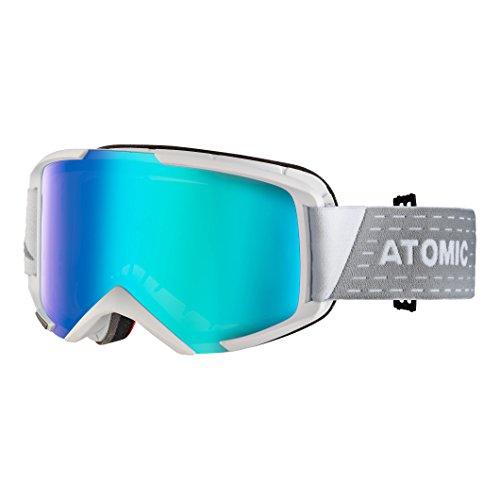 Atomic Unisex All Mountain-Skibrille Savor M Photo, für alle Lichtverhältnisse, Medium Fit, Live Fit-Rahmen, Photochrome Scheibe, weiß/photochromic, AN5105492