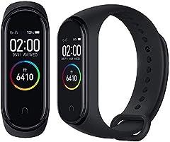 Idea Regalo - Xiaomi Miband Band 4 - Fitness Tracker, con Schermo a Tutto Colore, da Uomo, Colore: Nero, 0.20