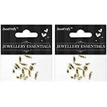 Itsy Bitsy Metal Jewelry Findings Screw Clasps with Loop, Pack of 2